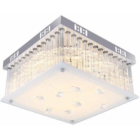 Luxe LED plafonnier salle à manger spotlight verre tiges cristal draperie lampe Globo 4941348