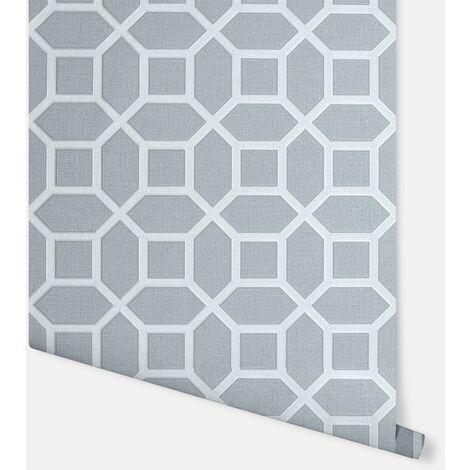 Luxe Origin Gunmetal Wallpaper - Arthouse - 295600