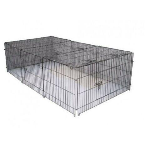 Luxe Parc Enclos Cage Grille De Sécurité Pour Chiens Lapins Rongeurs 144 * 112 Cm