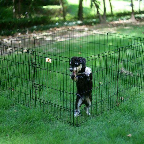 Luxe Parc Enclos Métal Cage Box Barrière Pour Les Chiots, Chiens, Chats Rongeurs