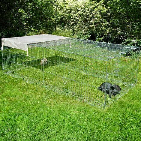 Luxe parc enclos pour les mammifères rongeurs lapins L 200 x L 100 x H 60 cm