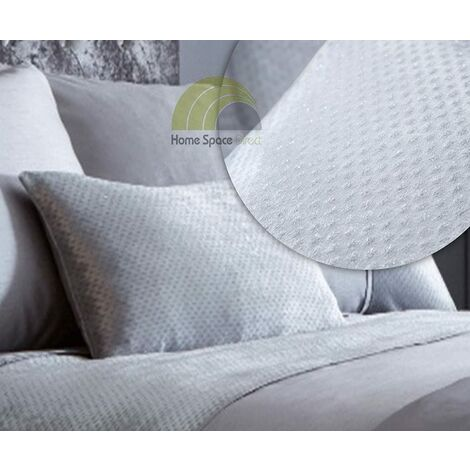 Luxe Silver Cushion Bed Sofa Accessory Filled Decor Cushions