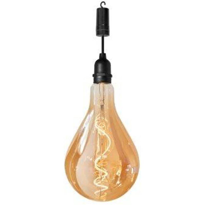 Image of Battery LED Garden Bulb Raindrop - Black - Luxform