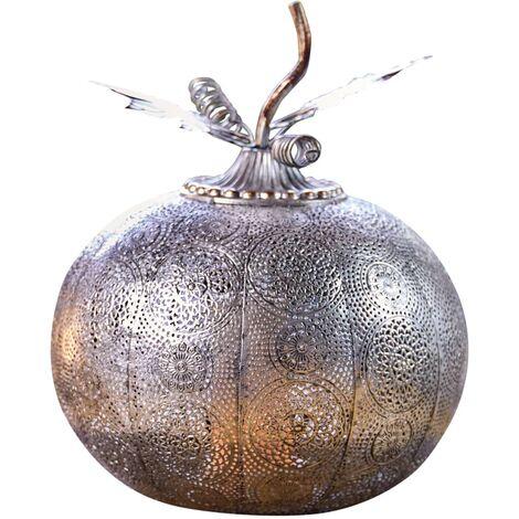 Luxform Battery-operated LED Garden Light Pumpkin Antique Silver