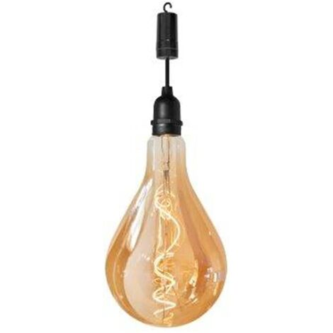 Luxform Bombilla LED de jardín a pilas Raindrop - Negro