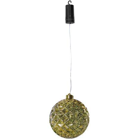 Luxform Lámpara colgante LED a pilas Ball Diamonds dorada - Oro