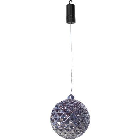 Luxform Lámpara colgante LED a pilas Ball Diamonds plateada - Plateado