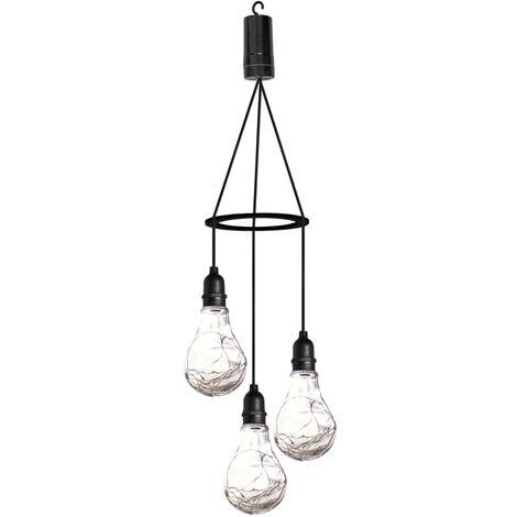 Luxform Lámpara colgante LED con 3 luces a pilas Apollo - Negro
