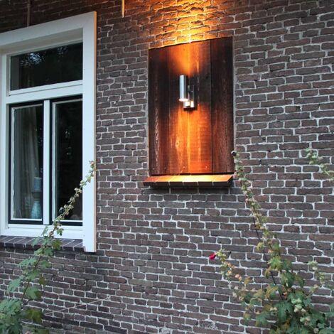 Luxform Lámpara jardín luz superior/inferior con sensor Eden 230 V