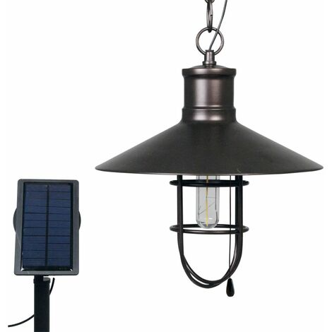 Luxform Lámpara solar LED de jardín Caledon bronce oscuro 34112