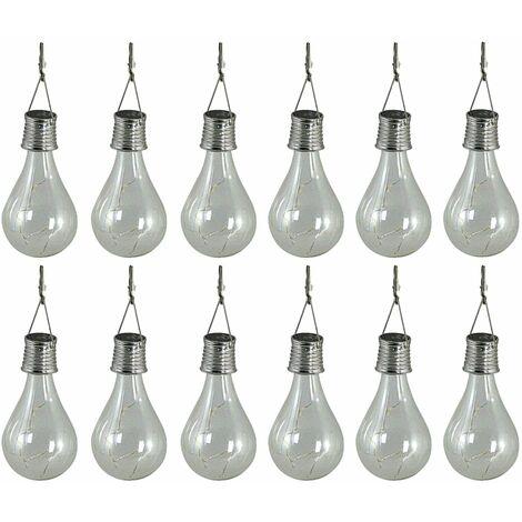 Luxform Lámparas solares LED de fiesta 12 uds. transparente 95220