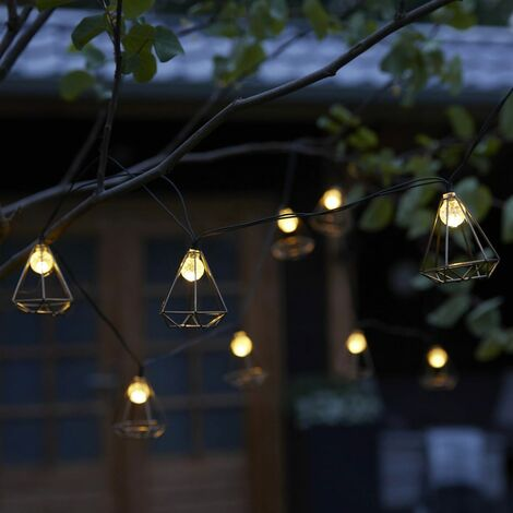 Luxform Lámparas solares LED para fiestas 10 unidades Sousse dorado - Oro