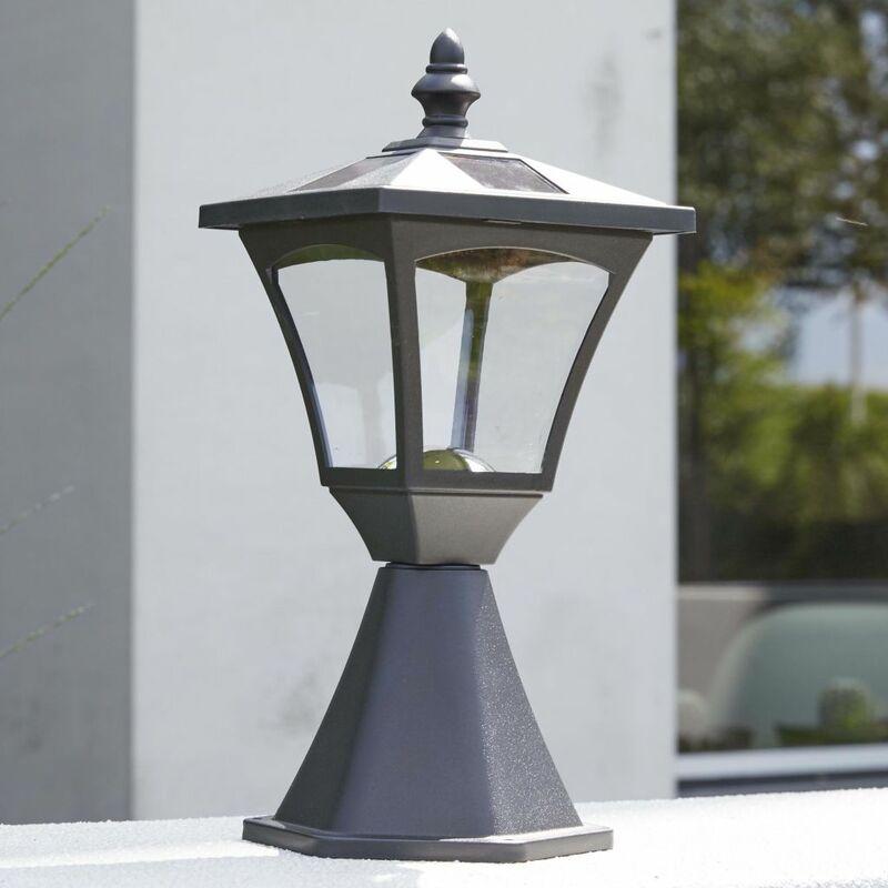 Luxform Lampe LED solaire de jardin à piquet Casablanca Noir 31159