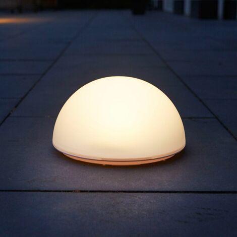 Luxform Lampe LED solaire de jardin La Rochette Semi-globe 40101