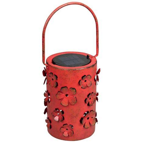 Luxform Solar LED Garden Lantern Daisy Red 8 Lumens 29114 - Red