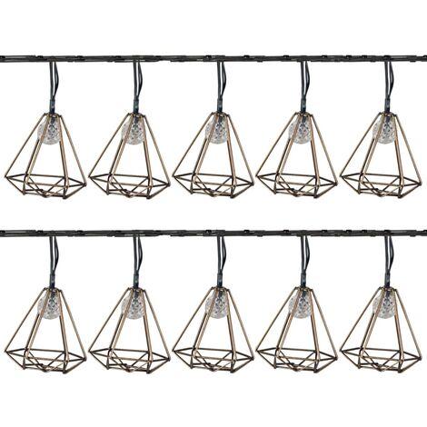 Luxform Solar LED Garden Party Lights 10 pcs Sousse Gold - Gold