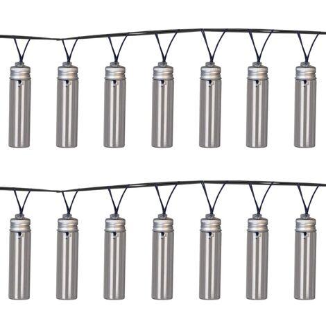 Luxform Solar LED Garden Party Lights 14 pcs Gordo Transparent - Transparent