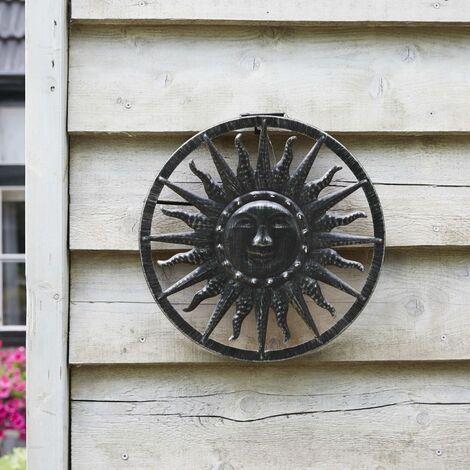 Luxform Solar LED Garden Wall Ornament Sun - Silver