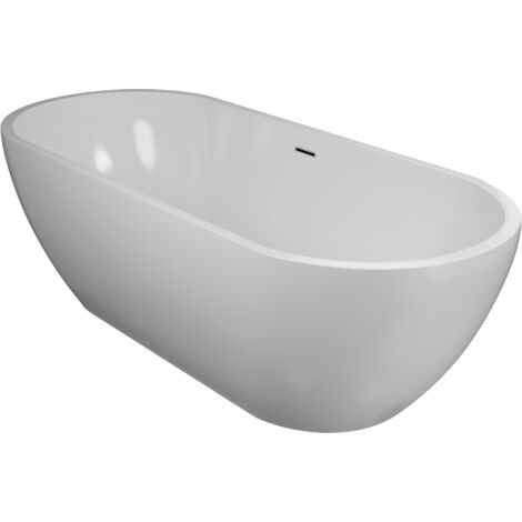 Luxor White Double Ended Freestanding Bath 1650mm x 700mm