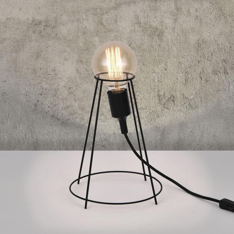 Lampada da tavolo Sydney design industriale Metallo 26 x ø 20 cm Nero