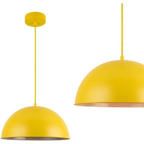 [[[lux.pro]]] Lampadario color senape design moderno di metallo , paralume  Ø circa 40 cm