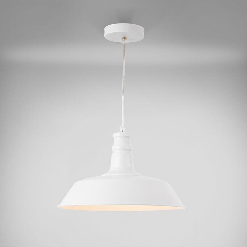 Lampadario nobile bianco design moderno di metallo - paralume Ø: circa 36 cm - [LUX.PRO]
