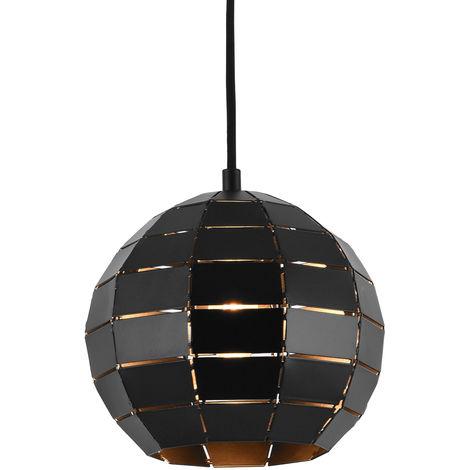 [lux.pro]® Lámpara de techo tipo colgante con pantalla decorativa - negro - E27 - 20x20cm - lámpara moderna