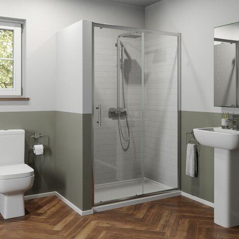 Luxura 1100mm Sliding Shower Door - 6mm Glass