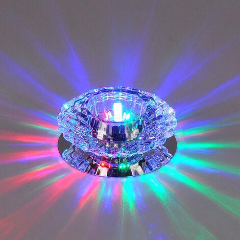 Luxurious Crystal Spotlight Modern LED Downlight for Aisle Entrance Hall Color Light
