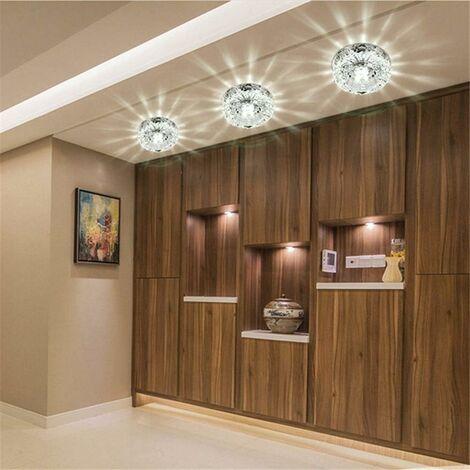 Luxurious Crystal Spotlight Modern LED Downlight for Aisle Entrance Hall Cool White