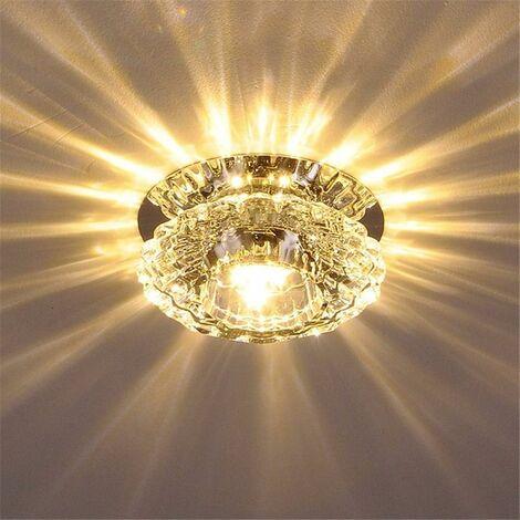 Luxurious Crystal Spotlight Modern LED Downlight for Aisle Entrance Hall Warm White