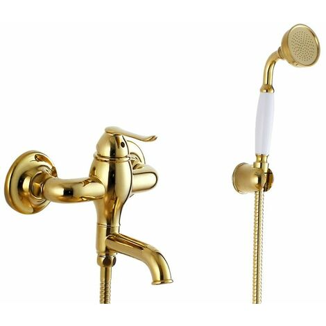 Luxurious Gold Wall Mounted Tub Faucet