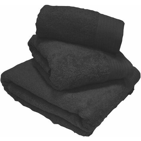 Luxury 100% Egyptian Cotton Black Towels Bath Towel 70x130cm