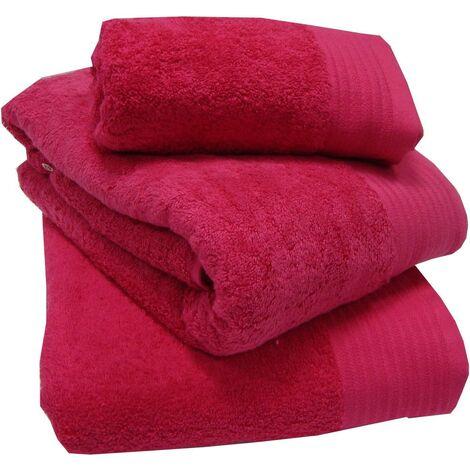 Luxury 100% Egyptian Cotton Thick Heavyweight 600gsm Combed Fuchsia Bath Towel