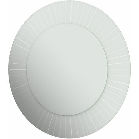 Luxury Bathroom Mirror Bevelled Edge Frameless Round Wall Mounted 600x600mm