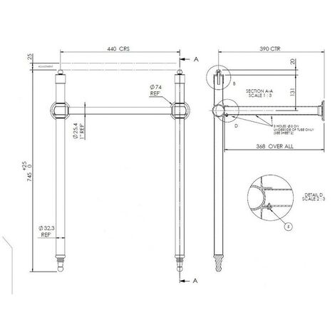 Luxury Chrome Washstand (For Use With 500mm, 515mm & 560mm Basins)