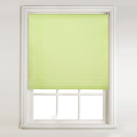 Luxury East Quality Easy To Install Polyester Roll Up Window Roller Blind,  Green, W150 x D214cm