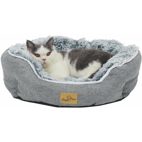 Luxury Flannel Dog Bed Cozy Round Plush Orthopaedic Pet Kitten Basket - different size available