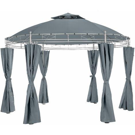 Luxury gazebo 350 cm Siana - garden gazebo, camping gazebo, party gazebo - anthracite