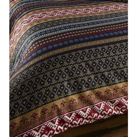 Luxury Indian Ethnic Print King Bed Duvet Quilt Cover Bedding Set Orkney Multi