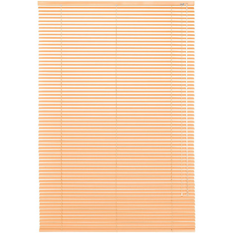 Luxury Metal Ready To Install Venetian Aluminium Blind For a Variety of Rooms - Apricot (40cm Wide x 175cm Drop)