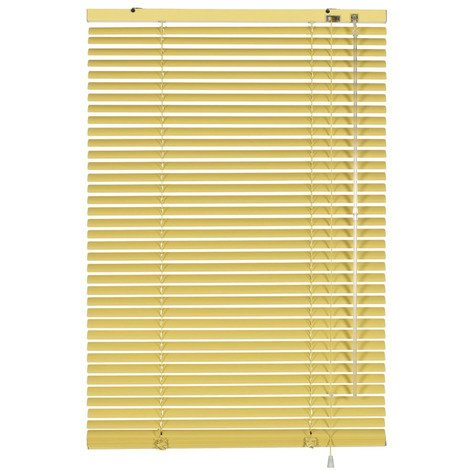 Luxury Metal Venetian Blinds 100 x 175cm Vanilla Aluminium Blinds with 25mm Slats