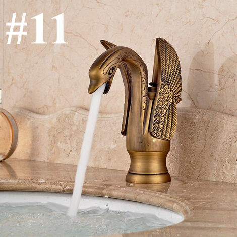 Luxury Or Swan Bathroom Basin Mixer Faucet Single Lever Tap Hot Cold Spout 1 Hasaki