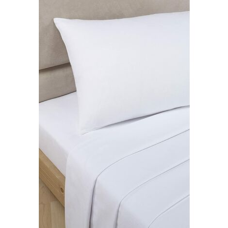 """main image of """"Luxury Percale White Extra Deep Double Fitted White"""""""