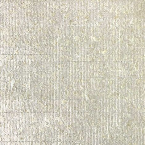 Luxury shell wall covering WallFace CSA02-4 CAPIZ non-woven wallpaper hand-crafted with real Capiz shells mother-of-pearl look cream-white 9.80 m2 roll