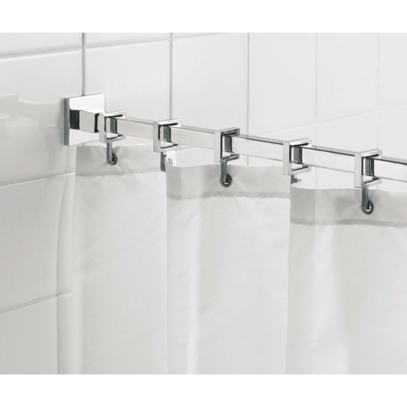 Luxury Square Shower Curtain Rod 2500mm Chrome Ad116441