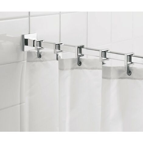 Luxury Square Shower Curtain Rod 2500mm - Chrome