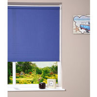 Luxury Transparent Window Roller Blind - Trimmable - Blue 62cm x 160cm