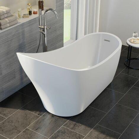 Luxury Vichy Modern Freestanding Bath 1720mm Acrylic Built in Waste White