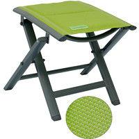Luxus Fußhocker gepolstert mit Quick Dry Foam Garten Aluhocker Gartenmöbel Sitzhocker Camping Hocker Textilen grün
